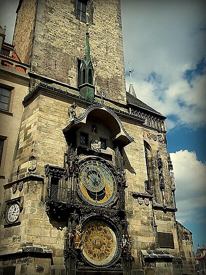 The Astronomical Clock-Prague, Czech Republic by Kristina R.