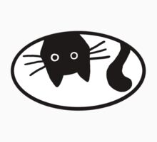 Funny Black Cat by Jenn Inashvili