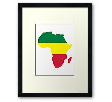 Africa map reggae Framed Print
