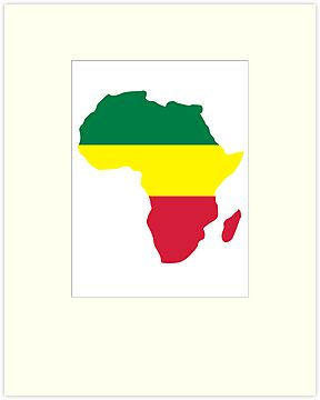 Africa map reggae by Designzz
