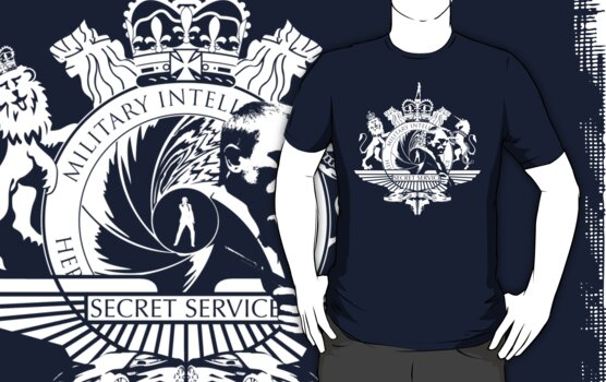 50th Anniversary Secret Agent Tee_WHITE by bengrimshaw