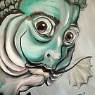 Salvador Dali (as a fish) by Ellen Marcus