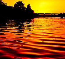 Sunset on the Water by Sara Wilcox