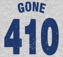 Team shirt - 410 Gone, blue letters Kids Clothes