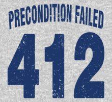 Team shirt - 412 Precondition Failed, blue letters Kids Clothes