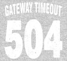 Team shirt - 504 Gateway Timeout, white letters Kids Clothes