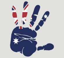 Hand print of flag of Australia by nadil