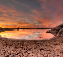 Evaporating Sunset by Bob Larson