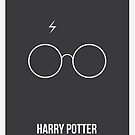 Harry Potter Minimalist Poster by Nick Symeou