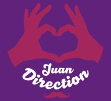 I Heart Juan Direction - White and Pink by Adriana Owens