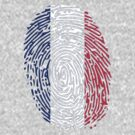 Flag of France Thumbprint by nadil