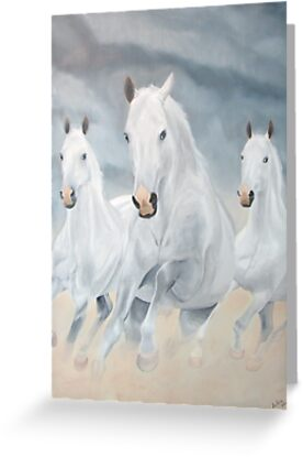 Three Horses by Aubin de Jongh