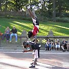 Acrobats in Central Park by Bernadette Claffey