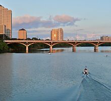 South Congress Bridge, Bat City & Ladybird Lake - Austin Texas by Jack McCabe