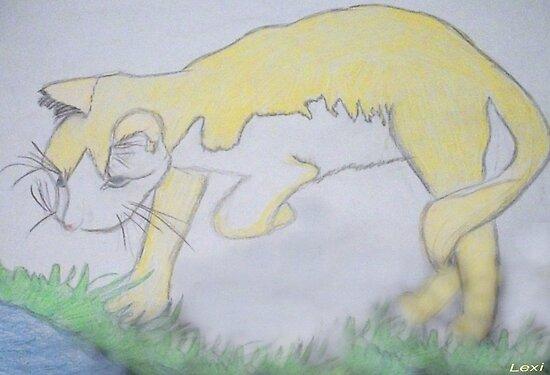 THE YELLOW CAT by trisha22