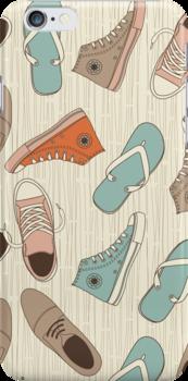 doodle shoes iphone case by Anastasiia Kucherenko