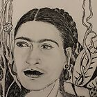 Frida Pen and Ink by bohemianartist