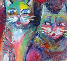 Cheeky cats by Karin Zeller