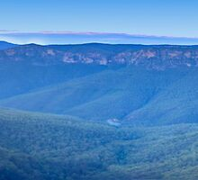Govetts Glory - Govetts Leap, Blue Mountains World Heritage Area (Panoramic) - The HDR Experience by Philip Johnson