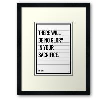 My 300 Movie Quote poster Framed Print