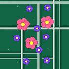 Green Tartan Flower Garden by Jayne Le Mee