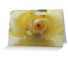 Burst of Sunshine ~ Yellow Rose Greeting Card