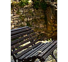Stone Walled Bench Photographic Print