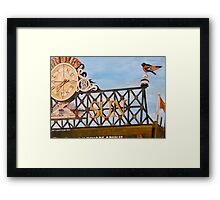Orioles Scoreboard at Sunset Framed Print