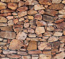 Wall of Karoo rocks, Western Cape, SA by Chris Fick