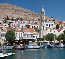 Greek Village of Halki by Tom Gomez