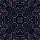 Kaleidoscope 2 Black / Dark Mandala abstract iPhone & iPod Case / Cover by Leah McNeir