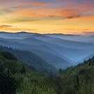Smoky Mountains Sunrise - Great Smoky Mountains National Park by Dave Allen