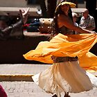 Taos Hippie Parade Dancing in Yellow by doorfrontphotos