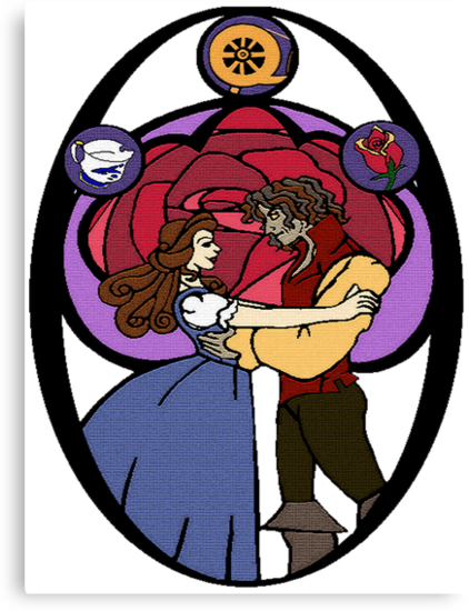Rumbelle (Stained Glass) by tonksiford