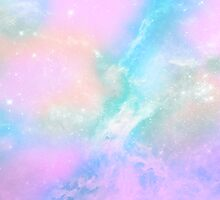 PearlGalaxy Pastel Space Art by Sweeter Arts