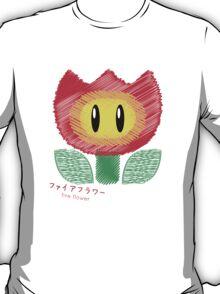fire flower -scribble- T-Shirt