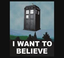 I Want to Believe ( Clothing & Sticker) by PopCultFanatics