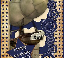 Steampunk Dad Birthday Card by Moonlake