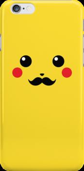 pikachu mustache by steve landaverde
