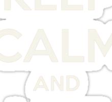 Keep calm and like on Sticker