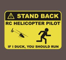 RC Helicopter Pilot - Stand Back Kids Clothes