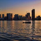 Khalid Lagoon Sunset by Omar Dakhane