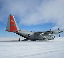 C130 Hercules on Skis Antarctica by cactus82