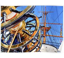 The Helm HMS Warrior - HDR Poster