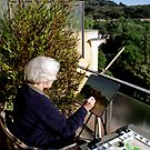 Painting in Frascati, Italy by Freda Surgenor