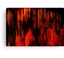 Liquid Love in Red Canvas Print