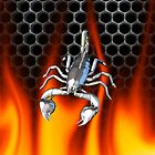 Chrome scorpion and fire Design 2 by Skatersollie