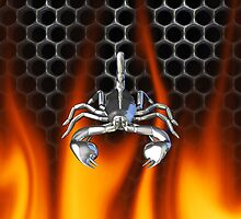 Chrome scorpion and fire Design 3 by Skatersollie