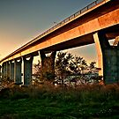 Jamestown Bridge at Sunset, Jamestown Rhode Island by Jack McCabe