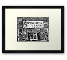 Antiques... Clinton Mall   #2 Framed Print